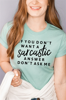 Picture of Sarcastic Graphic Tee