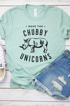 Picture of Save The Chubby Unicorns Graphic Tee