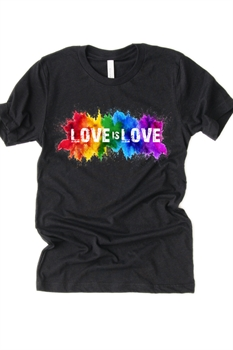 Picture of Love is Love Paint Splatter Graphic Tee
