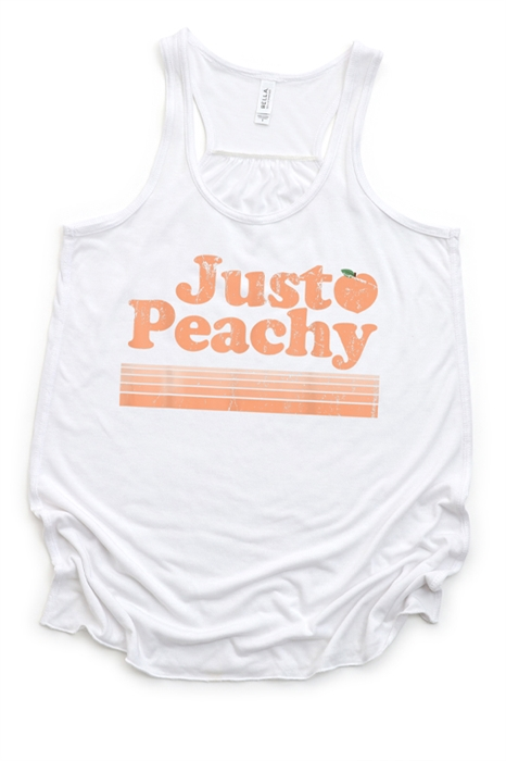 Picture of Just Peachy Retro Flowy Graphic Tank