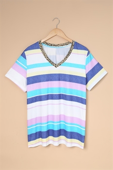 Picture of Striped V-Neck Tee